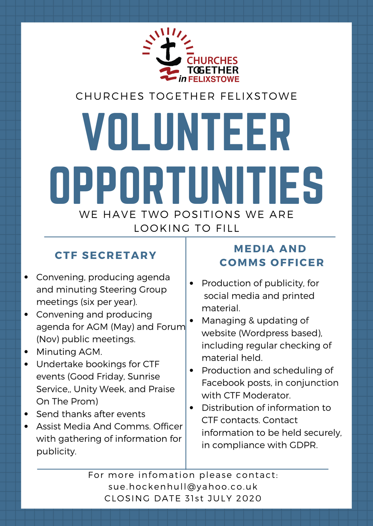 CTF 2020 job advert